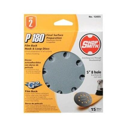 Shopsmith 12055 Film Back Hook & Loop Sandpaper Disc, 5