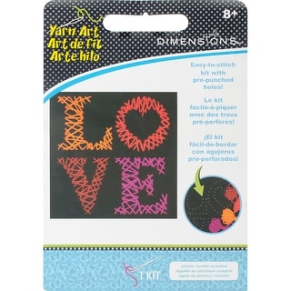 "Felt Stitch Art Kit-Love 8.5""X8.5"""