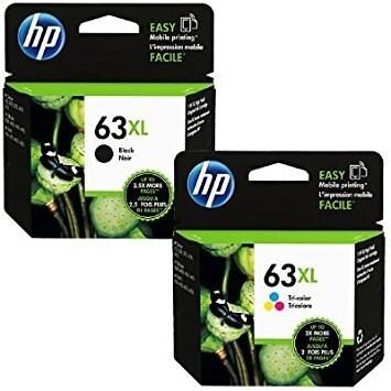 Genuine HP 63XL Black and HP 63XL Tri-color F6U64AN, F6U63AN