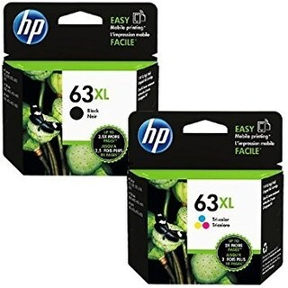 Genuine HP 63XL Black and HP 63XL Tri-color F6U64AN, F6U63AN