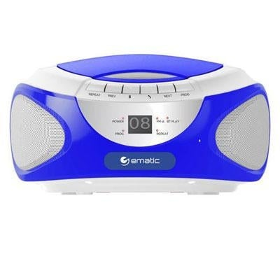 Ematic Ebb9224bu Cd Bluetooth Boombox (Blue)