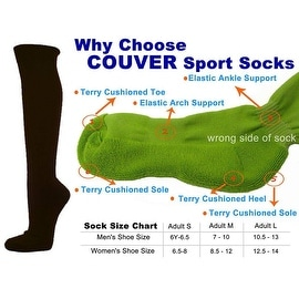 Dark Borwn Couver Knee High Unisex Sports Athletic Baseball Softball Socks(3 Pairs)
