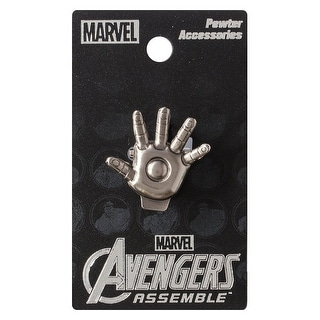 Marvel Pewter Lapel Pin Iron Man Palm