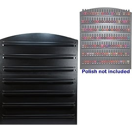 LCL Beauty 7 Tier Black Wall Mount Nail Polish Rack Display Organizer Shelf