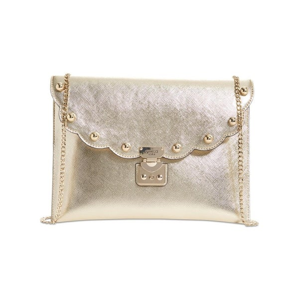 360d2b7680 Shop Guess Womens Fall In Love Clutch Handbag Metallic Studded - Small -  Free Shipping On Orders Over  45 - Overstock - 22680512