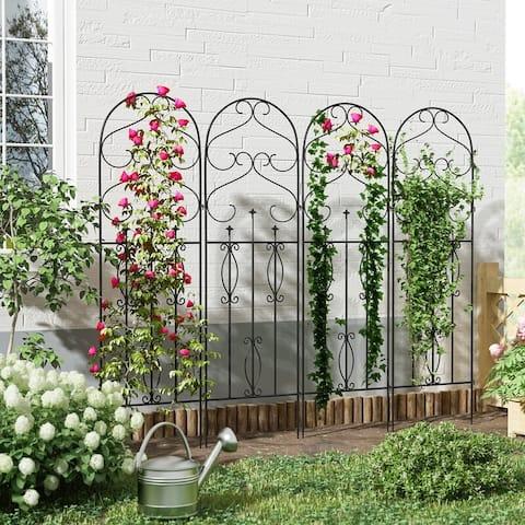 4 PCS Decorative metal garden fence Rustproof Metal Landscape