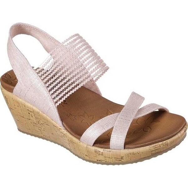 88cfdc649 Shop Skechers Women s Beverlee High Tea Wedge Sandal Pink - On Sale ...