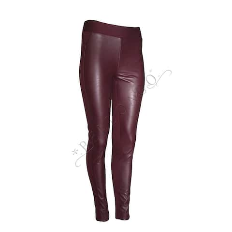 INC International Concepts Faux-Leather-Front Skinny Pull-on Pants 4