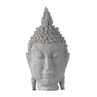 A&B Home Gray Meditating Buddha Head Sculpture