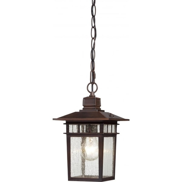 """Nuvo Lighting 60/4955 Cove Neck 1-Light 7"""" Wide Outdoor Mini Pendant with Seedy Glass Shade - Rustic Bronze - n/a"""