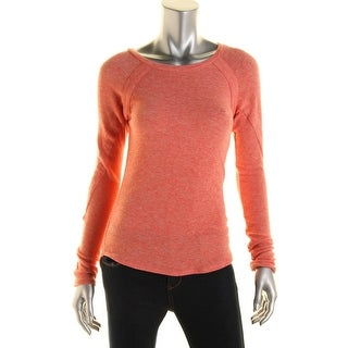Rachel Rachel Roy Womens Heathered Boatneck Pullover Sweater - M