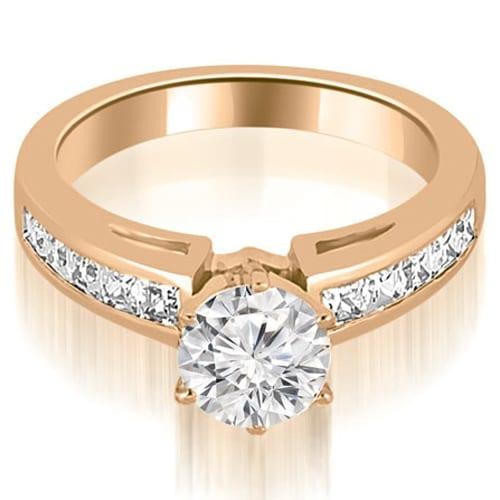 1.70 cttw. 14K Rose Gold Channel Set Princess Cut Diamond Engagement Ring