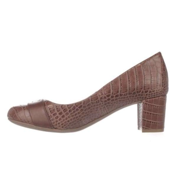 Giani Bernini Womens Lorenn Leather Closed Toe Classic, Nut/Maple, Size 8.5