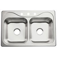 "Sterling 11402-3 Southhaven 33"" Double Basin Drop In Stainless Steel Kitchen Sink with SilentShield®"