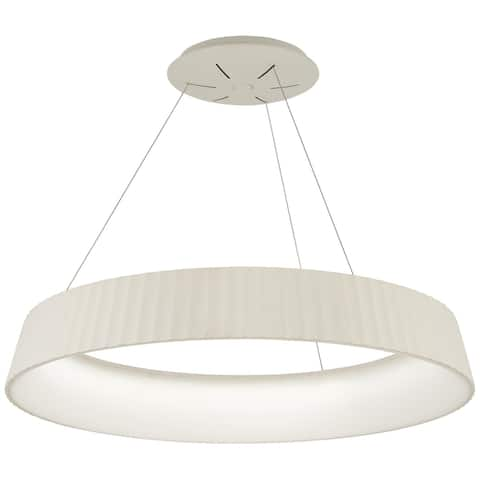 "Kovacs P8131-044-L Star Gate 33-1/2"" Wide Integrated LED Ring Chandelier with Acrylic Shade - White"