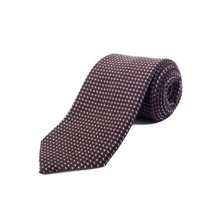 Ermenegildo Zegna Men's Wool Pattern Tie Brown - no size
