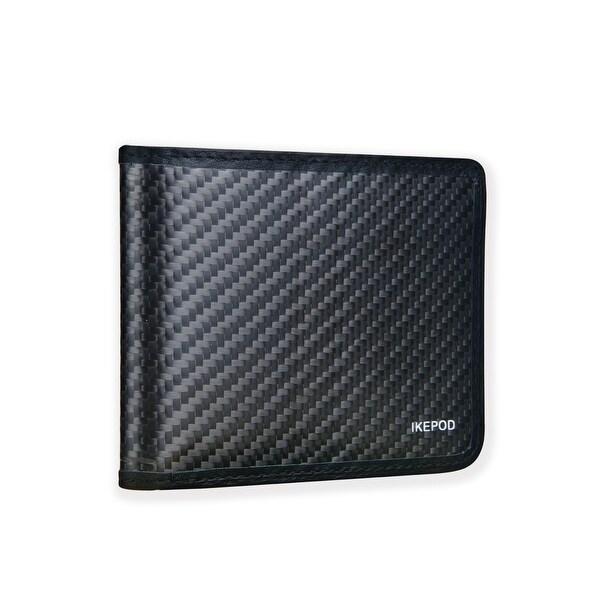 Ikepod Carbon Fiber Slim Down Wallet [ 3M Carbon Fiber + Italy Leather ] - Black