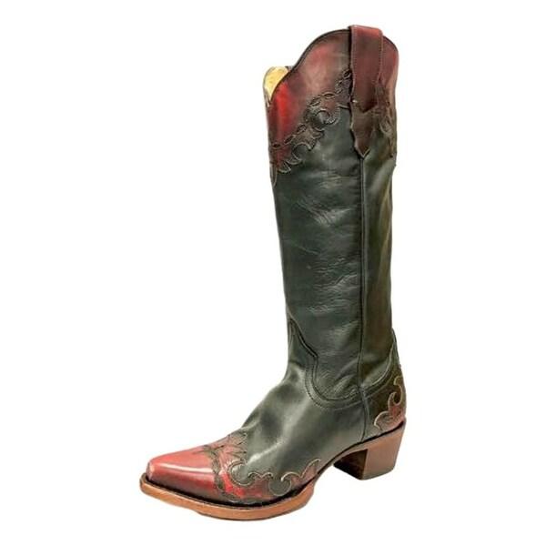 Roper Western Boots Womens Raven Black Wine