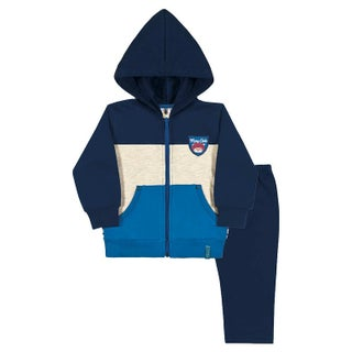Baby Boy Outfit Hoodie Jacket and Sweatpant Set Pulla Bulla Sizes 3-12 Months (Option: royal blue / 9-12 months)