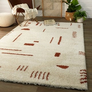 Link to Carson Carrington Islinge Tribal Moroccan Shag Area Rug Similar Items in Vacuums & Floor Care