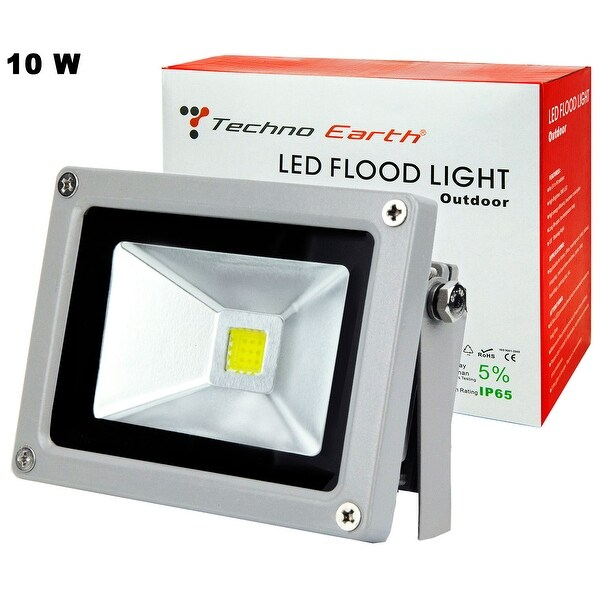White LED Flood Light Outdoor Waterproof Spotlight - Black