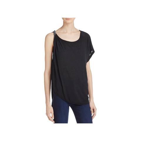 We The Free Womens Pluto T-Shirt Linen Blend One Shoulder