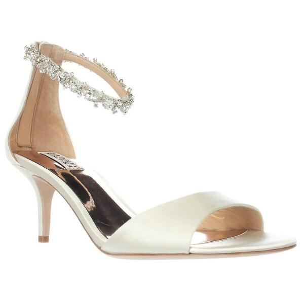 Badgley Mischka Geranium Ankle Strap Dress Sandals, Ivory