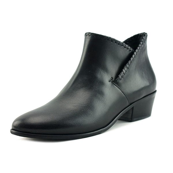 Jack Rogers Sadie Women Round Toe Leather Black Bootie