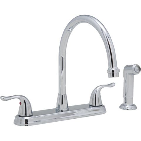 PROFLO PFXC6880 1.8 GPM Double Handle Kitchen Faucet with Side Spray -