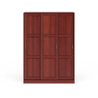 Link to Copper Grove Caddo Solid Pine Three Sliding Door Wardrobe Similar Items in Bedroom Furniture