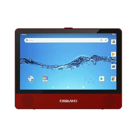 "Digiland DL9003 2-in-1 Android Tablet DVD Player - Quad-Core 1.3GHz 1GB 16GB 9"" Touch- Burgundy"