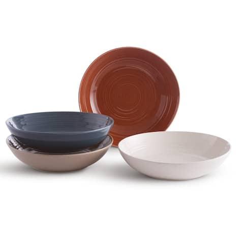 Sango Siterra Painters Palette Mixed Set of 4 Dinner Bowls, Multicolor