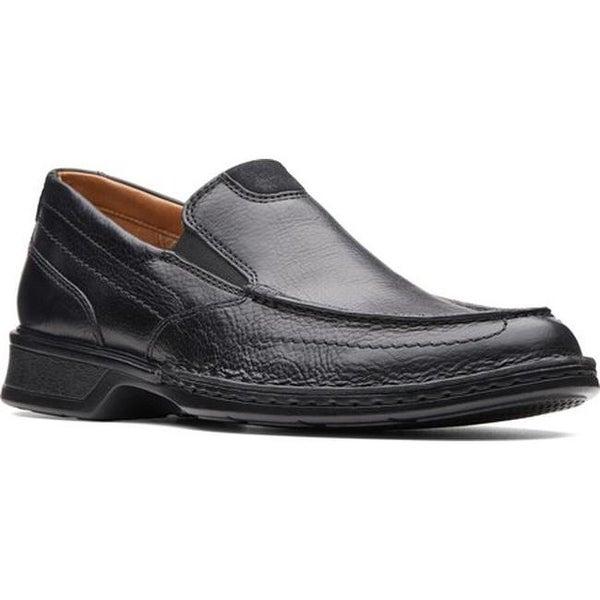 Shop Clarks Men S Northam Step Loafer Black Oily Leather