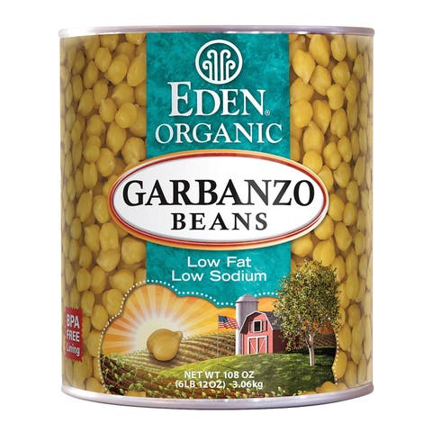 Eden Foods Organic Garbanzo Bean - Case of 6 - 108 oz.