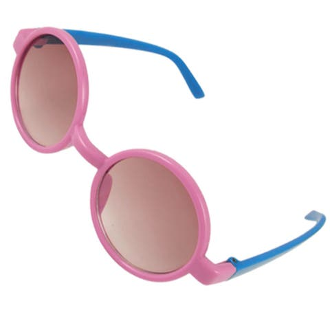 Single Bridge Pink Blue Plastic Sunglasses for Children