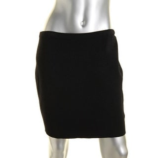 Rachel Roy Womens Solid Stretch Mini Skirt
