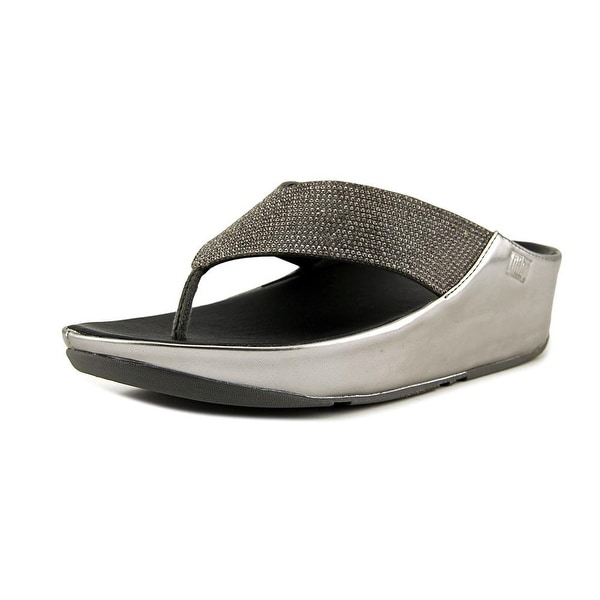 b2b01489522a Shop FitFlop Crystall Women Open Toe Synthetic Silver Slides Sandal ...