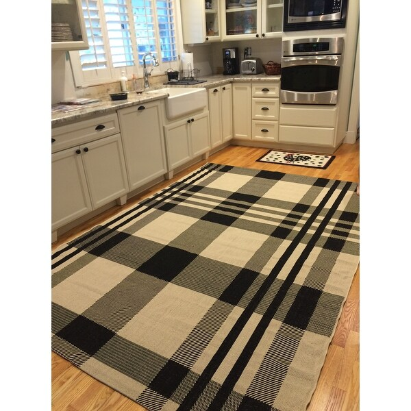 Safavieh Courtyard Plaid Black Bone Indoor Outdoor Rug On Free Shipping Today 7356977