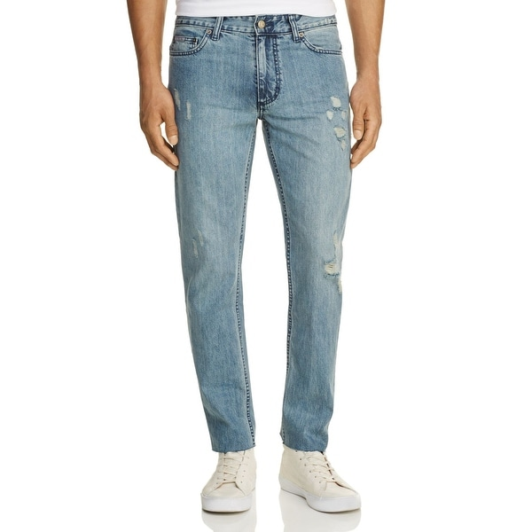 45f20d2bf82 Shop Calvin Klein Light Wash Men 30X32 Distressed Skinny Jeans - Free  Shipping On Orders Over $45 - Overstock - 27053614