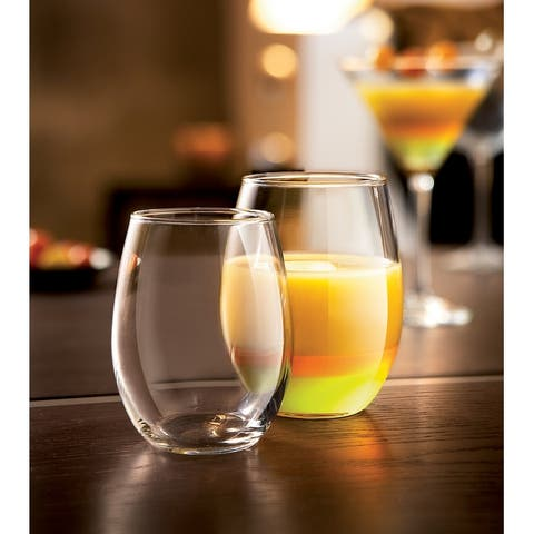 Luminarc 15 Ounce Cachet Stemless Wine Glass Party Pack