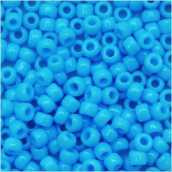 Toho Round Seed Beads 8/0 43 Opaque Blue Turquoise 8 Gram Tube