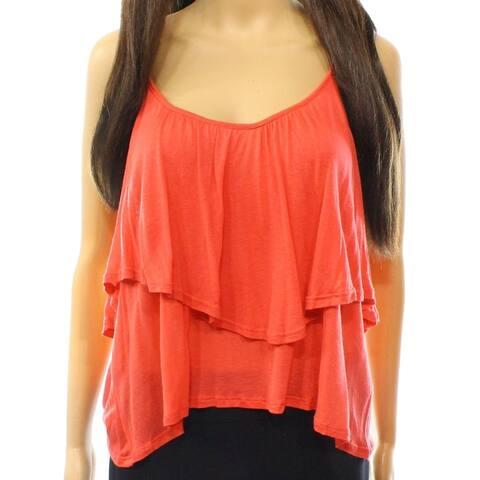 Lush Pink Women's Size Large L Popover Asymmetrical Cami Blouse