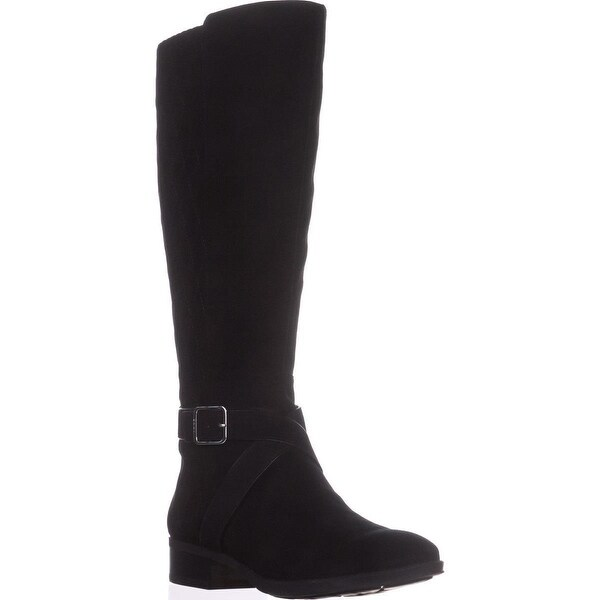 07118d82262 Shop DKNY Mattie Wide Calf Quilted Riding Boots, Black - Free ...
