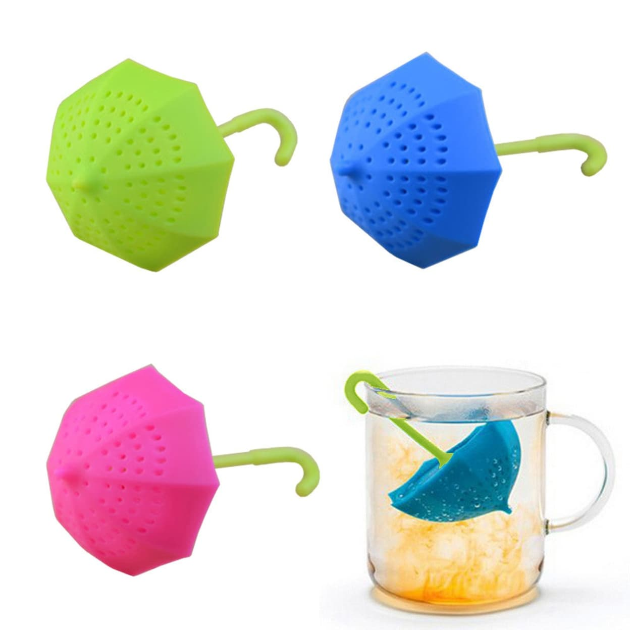 Tea Infuser Loose Leaf Strainer Silicone Herbal Spice Filter Diffuser Ball Tool