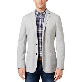 Michael Kors Mens Two-Button Blazer Slim Fit Textured