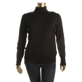 Cable & Gauge Womens Knit Ribbed Trim Turtleneck Sweater
