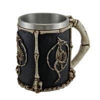 Dragon Skeletons and Bones Claw Handle Tankard with Stainless Steel Liner