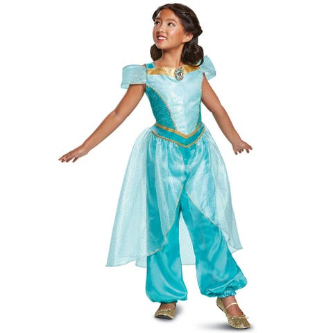 Disguise 2018 Jasmine Deluxe Child Costume - Green - X-Small