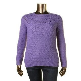 Lauren Ralph Lauren Womens Knit Ribbed Trim Pullover Sweater - XL