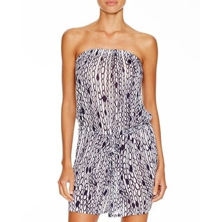 Milly Cabana Womens Romper Pattern Strapless